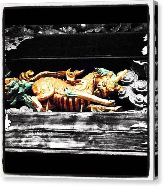 Dragons Canvas Print - Reason To Be Here #5, Temple Detail In by Christoph Flueckiger