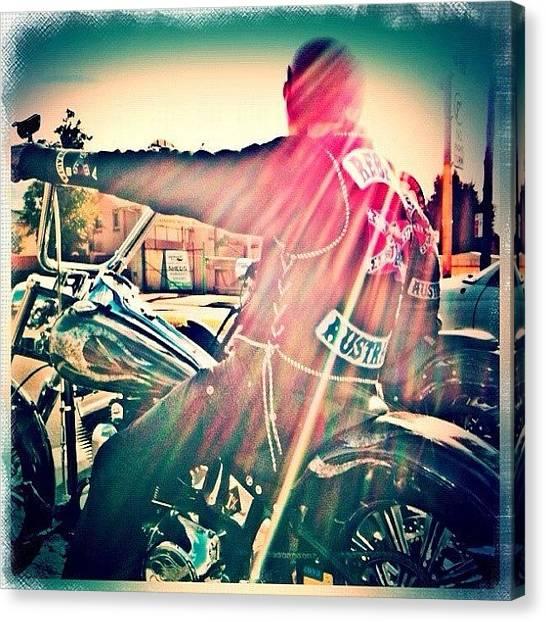 Harley Davidson Canvas Print - Rebels Arvo Ride #2 #fuda #fairfax by Luke Fuda