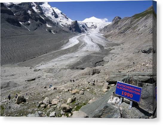 Pasterze Glacier Canvas Print - Recession Of The Pasterze Glacier by Dr Juerg Alean