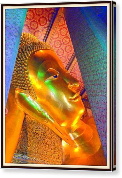 Reclining Buddha Canvas Print by Satya Winkelman