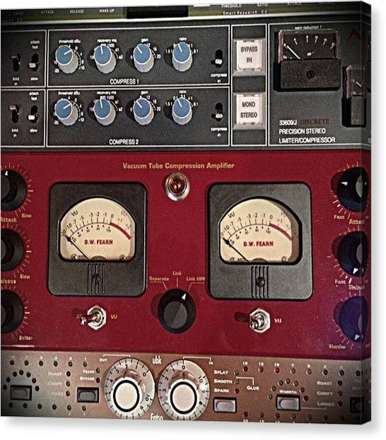 Gears Canvas Print - #recording #mastering #music #gear by Christopher Brightwell