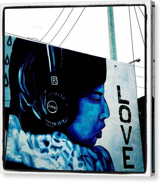 Headphones Canvas Print - #recordstore #phoenix #graffiti by CactusPete AZ
