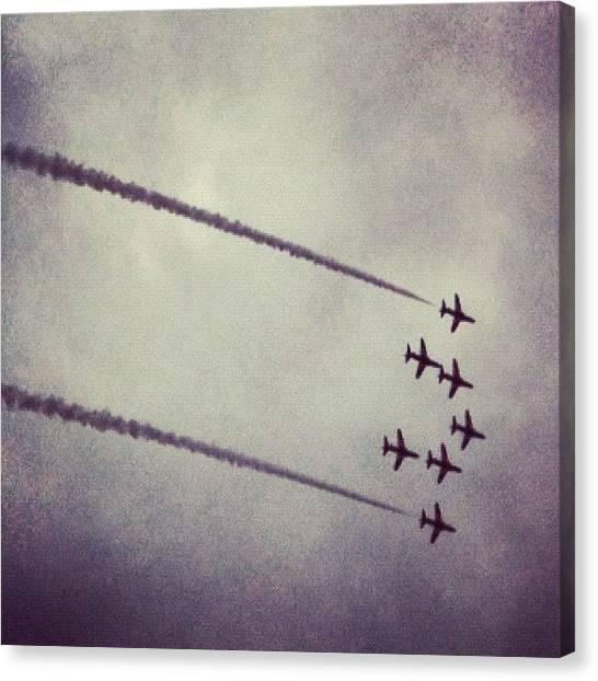 Jets Canvas Print - Red Arrows by Matt Perkins