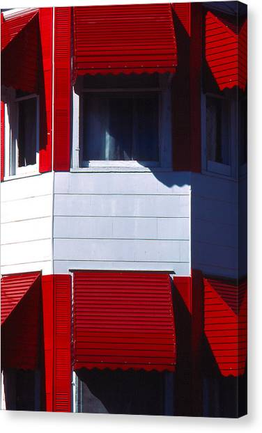 Red Awnings Canvas Print by Alfred Dominic Ligammari II