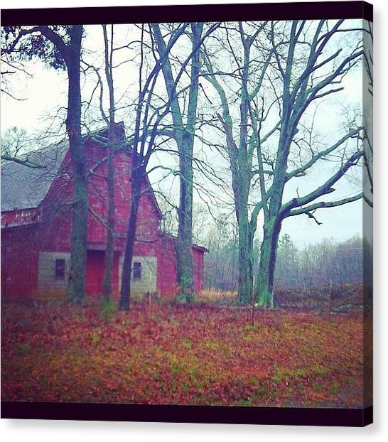 Barns Canvas Print - Red Barn. Rock Hill, Sc Usa by Aaron Justice