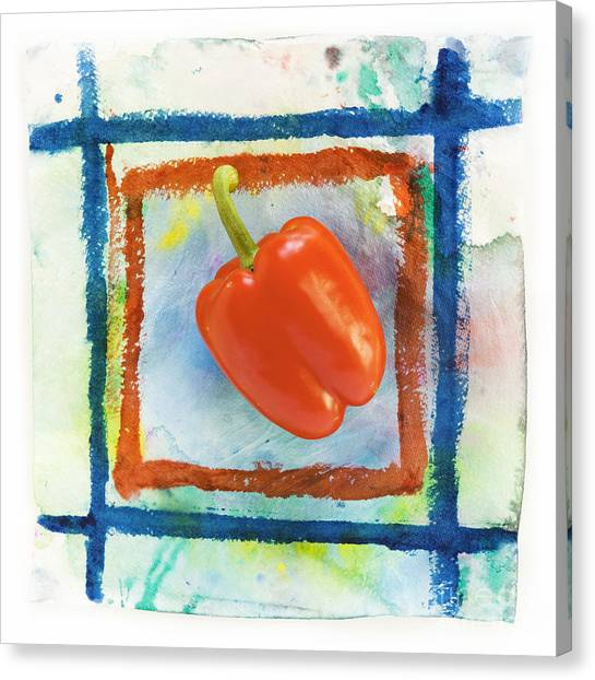 Pepper Canvas Print - Red Bell Pepper by Igor Kislev