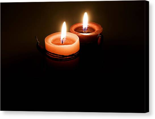 Red Candles Canvas Print