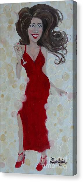 Red Champagne Canvas Print