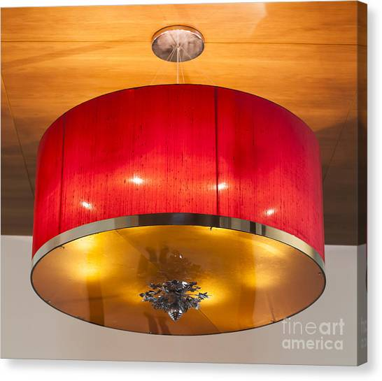 Red Circles Chandelier  Canvas Print by Chavalit Kamolthamanon