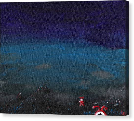 Cyclops Canvas Print - Red Cyclops Range by Jera Sky