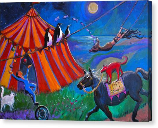 Red Dog Circus Canvas Print