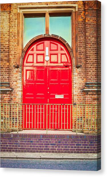 Door Canvas Print - Red Door by Tom Gowanlock