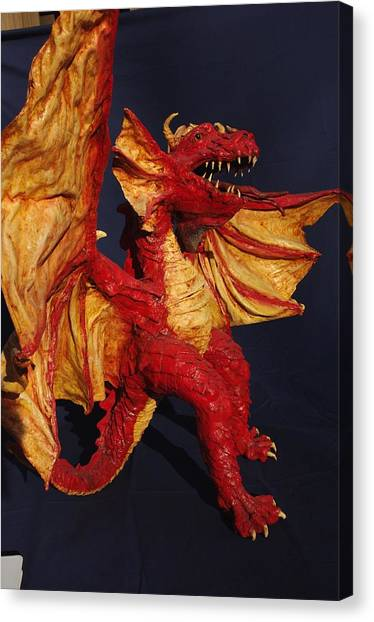 Red Dragon Canvas Print by Rick Ahlvers