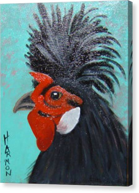 Red Faced Rooster Canvas Print