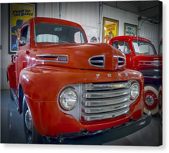 Red Ford Pickup Canvas Print