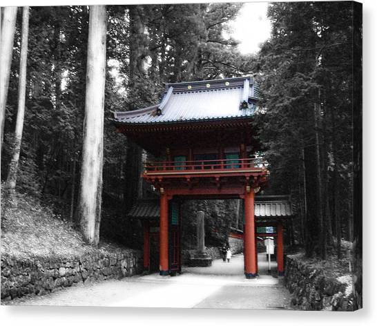 Monks Canvas Print - Red Gate by Naxart Studio