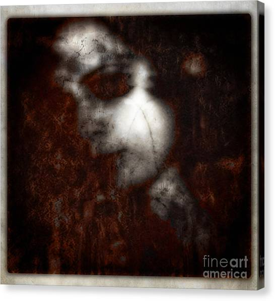 Red Hair On Marble Skin Canvas Print by Diane Falk