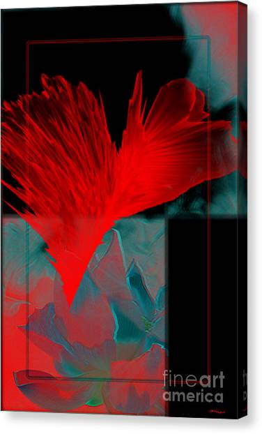 Red Heart Flower Canvas Print by Christine Mayfield