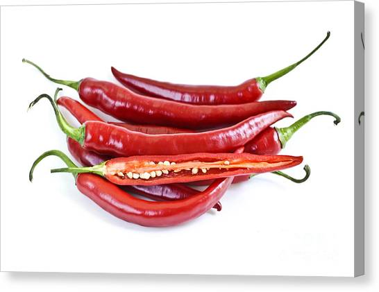 Packaging Canvas Print - Red Hot Chili Peppers by Elena Elisseeva