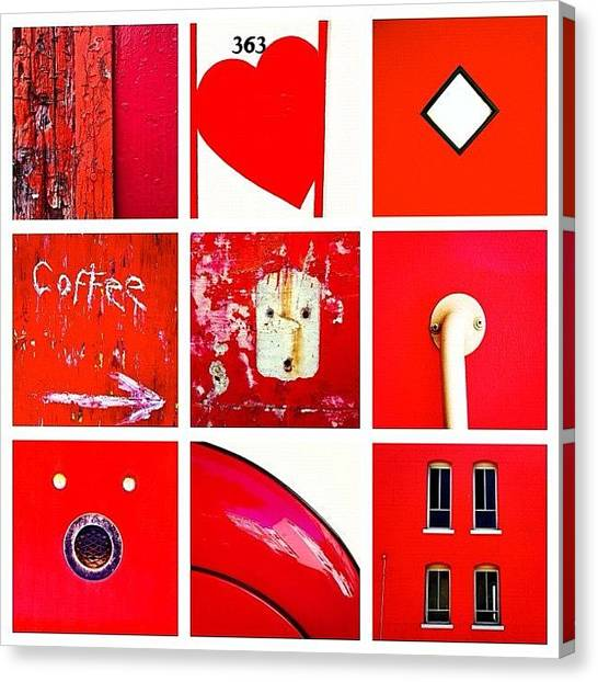 Red Canvas Print - red by Julie Gebhardt