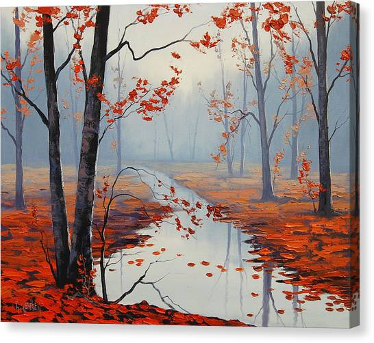 Maple Tree Canvas Print - Red Leaves by Graham Gercken