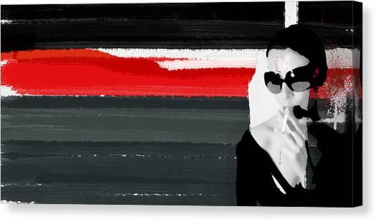 Powerful Canvas Print - Red Line by Naxart Studio