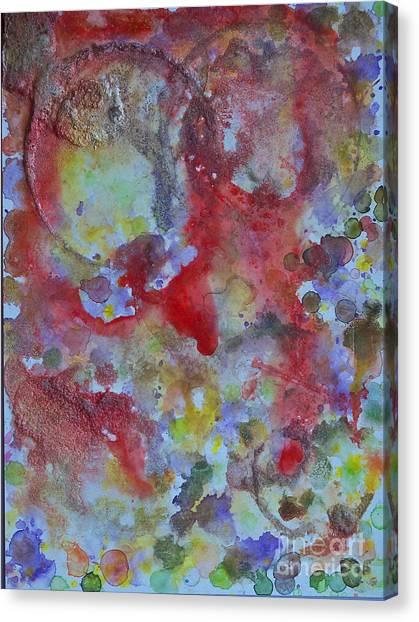 Red Ovals Canvas Print by Bill Davis