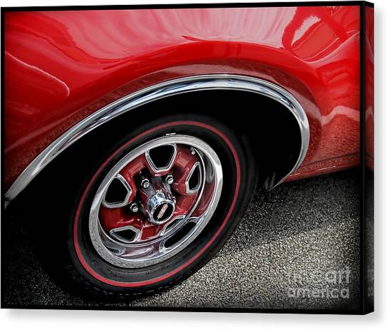 Red Power Of 442 Oldsmobile Canvas Print