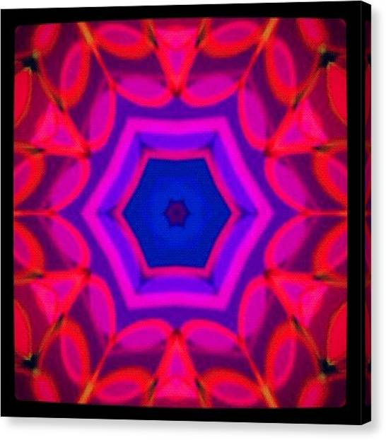 Fractal Canvas Print - #red #purple And #blue #meditating by Pixie Copley
