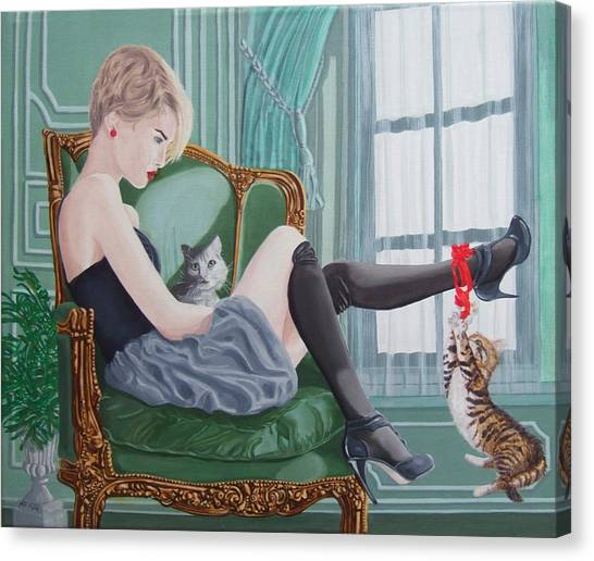 Canvas Print - Red Ribbon by Michael McEvoy