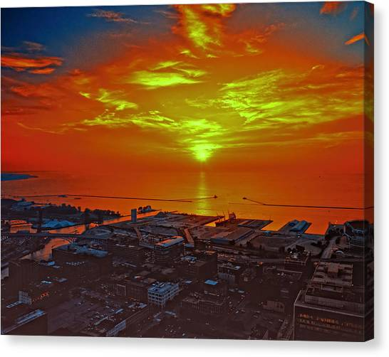 Red Sky At Night A Sailors Delight Canvas Print