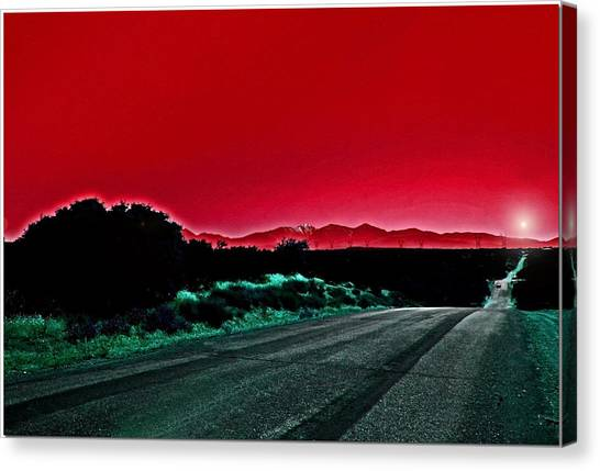 Red Sky At Night Canvas Print by Chet King