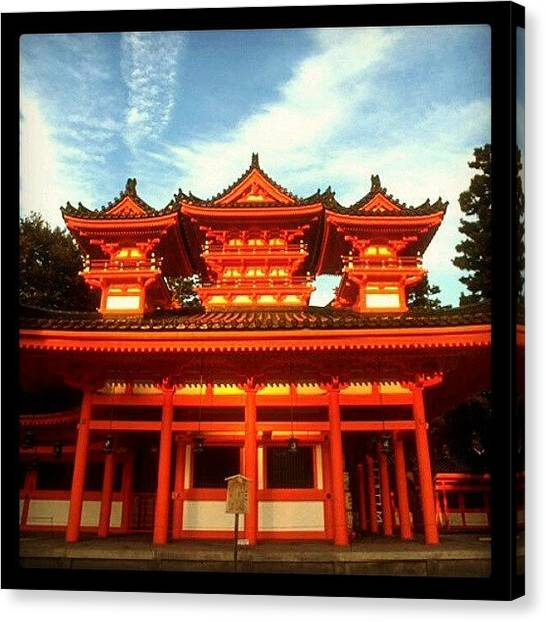 Judaism Canvas Print - #red #temple #shrine #japan #travel by Christoph Hensch