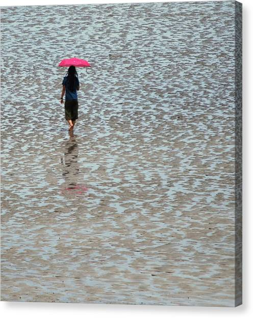 Red Umbrella  Canvas Print