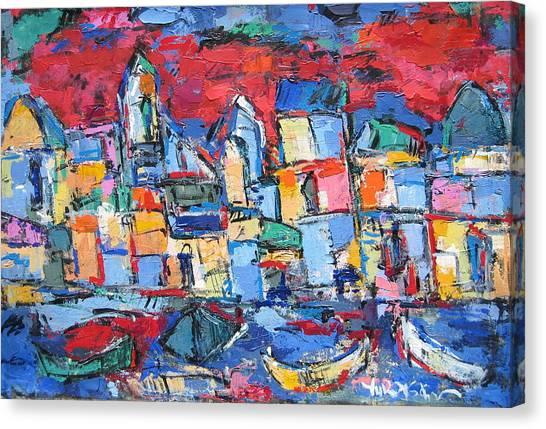 Red Venice Canvas Print