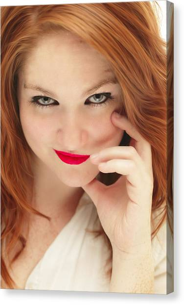 Redhead Canvas Print - Red White And Blue II by Rick Berk