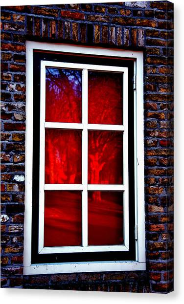 Red Window Holland Canvas Print