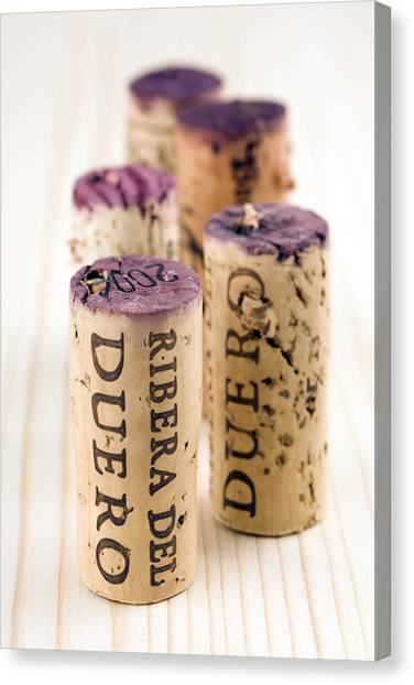 Red Wine Corks From Ribera Del Duero Canvas Print by Frank Tschakert