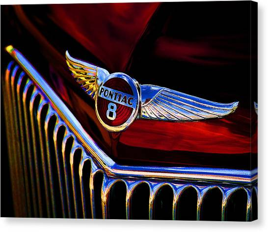 Automobiles Canvas Print - Red Wings by Douglas Pittman