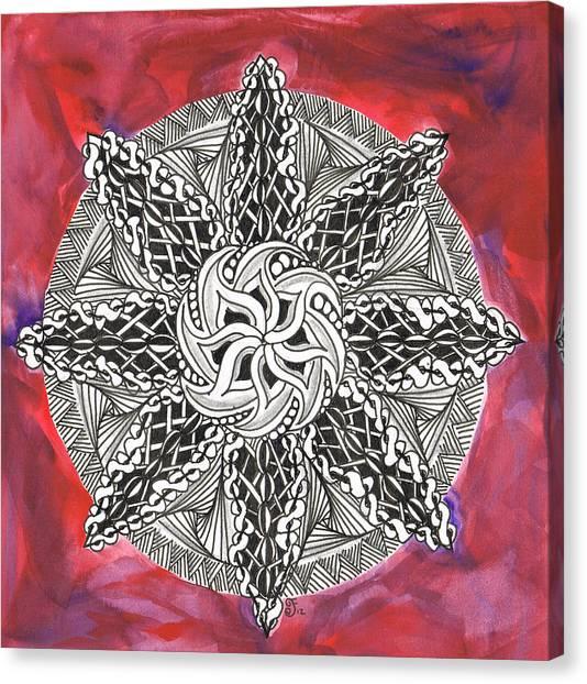 Red Zendala Canvas Print