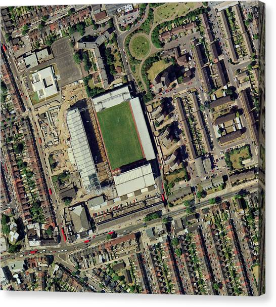West Ham United Fc Canvas Print - Redeveloping West Ham's Stadium by Getmapping Plc