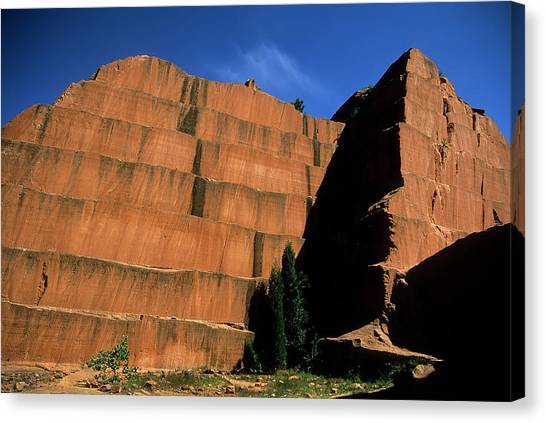 Redrocks Stone Quarry Canvas Print
