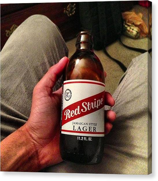 Lager Canvas Print - #redstripe #lager #beer #jamaica by Alex Santiago