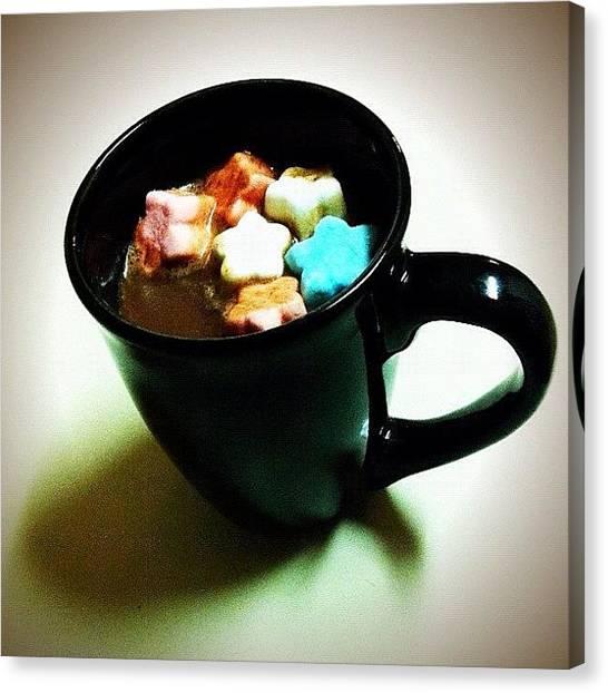 Milk Canvas Print - #redwhiteandblue #stars #marshmallows by Samantha Huynh