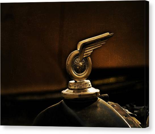Vintage Hood Ornament Canvas Print - Redwing Mascot by Douglas Pittman
