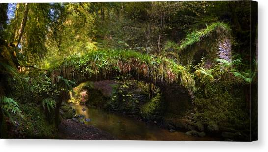 Reelig Bridge And Grotto Canvas Print