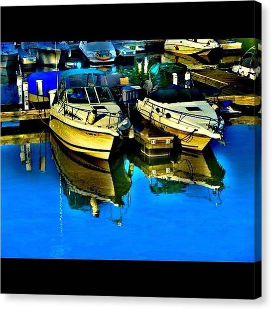 Marinas Canvas Print - Reflecting Boats #chicago #boats by David Sabat