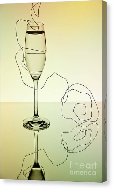 Champagne Canvas Print - Reflection 01 by Nailia Schwarz