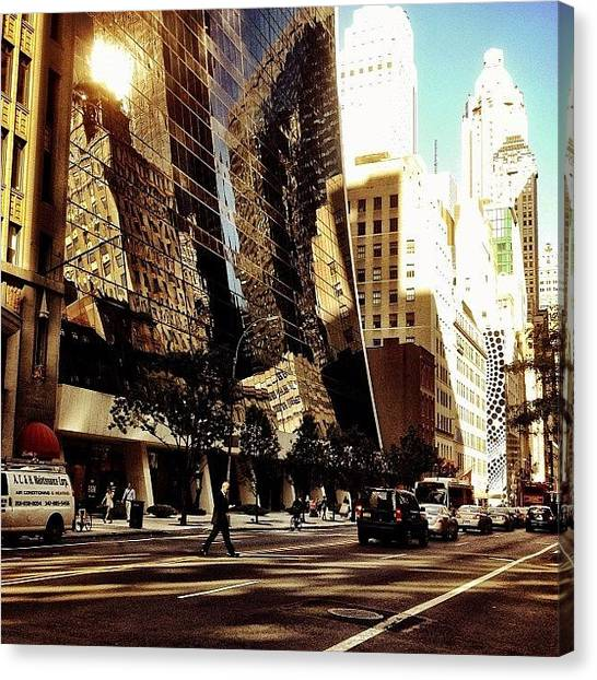 Times Square Canvas Print - Reflections - New York City by Vivienne Gucwa