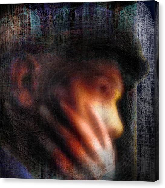 Reflections #2 - The Thinker Canvas Print